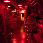 Control room under subdued lighting