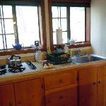 Charming Sugar Pine Cabin - super clean kitchenette