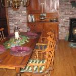 Enjoy you full country breakfast in the candle lit 1889 restored dining area!