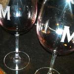 Maggiano's Wine Classes with a Big M on them