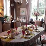 la salle à manger et le petit-déjeuner