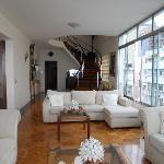The beautiful living room area