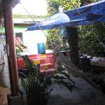 Rear chilling area, get ready to meet fellow backpackers