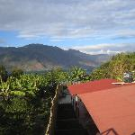 View from the bridge that connects the front and rear property. View of Lake atitlan and the qua
