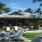 Beach club pool area