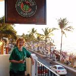 Murphy's Pub Sign and Looking down the Malecon and Beach