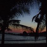 il tramonto sulla playa