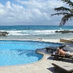 Pool towards beach