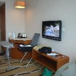 TV + entrance foyer & minibar area