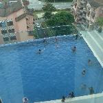 Infinity swimming pool @ Level 4