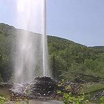 sprudelnder Geysir