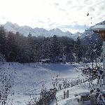 Blick auf Allgäuer Hauptkamm im Winter