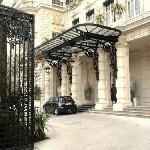 Shangri-La's gated driveway