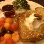 Peaches and Cream Stuffed French Toast-Cinnamon Bear Creekside Inn Sonoma, CA