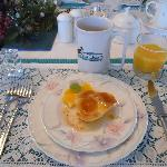 Delicious breakfast at Fox Hollow Bed & Breakfast
