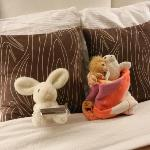 Stuffed animal turndown