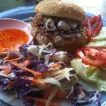 Thai Spiced pork burger