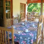 la veranda dove si pranza