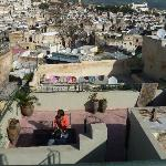 Terrace + view of Fez