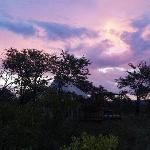 Sun set at the Elephant Camp