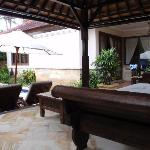 View across yard Serenity Villa F