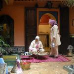 La ceremonia del té a nuestra llegada