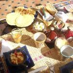 los desayunos en la terraza