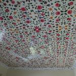 Handpainted ceiling in our suite's room