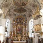 Inside the church at Scheffau