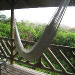 The hammock on our upstairs deck.
