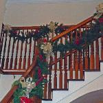 Staircase at Christmas
