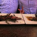 Lamb Rack and Veal Steak