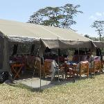 The dining room at Ol Pejeta
