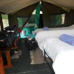 Classic safari luxury tented accommodation