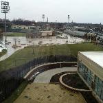 4th floor room view overlooking Parkview Ball field