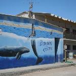 interesante mural de ballenas