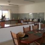 The kitchen and dining area for breakfasts