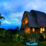Villa Kunang Kunang is an eco-friendly retreat set within an organic garden and encompassed by p