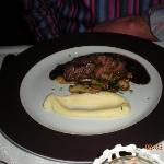 Superb Beef Fillet in Red Wine Sauce with Forest Mushrooms & Celery Puree - Divine!