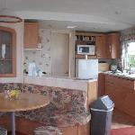 inside our caravan which was spotless
