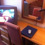tiny tv with 4 channels