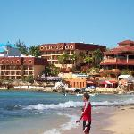View of Sosua Bay Resort from the beach