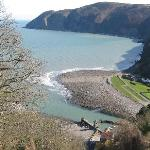 view from Lynton looking down on Lynmouth