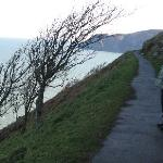 along the coastal path