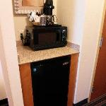 Room 616 Coffeemaker, microwave, fridge