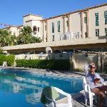 pool and garden restaurant of Khasab Hotel