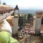 suggestiva vista dal  balcone