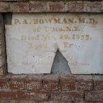 Jackson Cemetery - oldest headstone we found, 1855