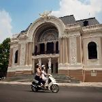 Driving by the Saigon Opera House