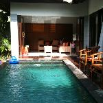 living area n pool